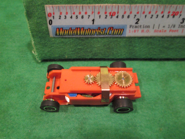 Top view of Dash IROC Red (Error) HO Slot Car Chassis
