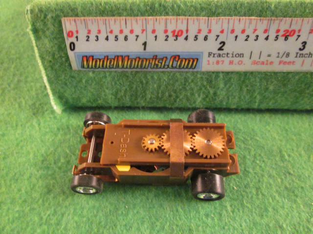Top view of Dash T 2.0 Dark Purple HO Slot Car Chassis
