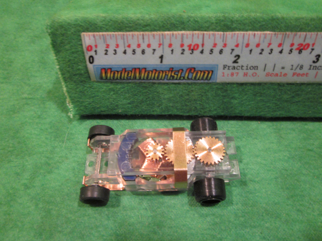 Top view of Dash T 2.0 Transparent ABS HO Slot Car Chassis