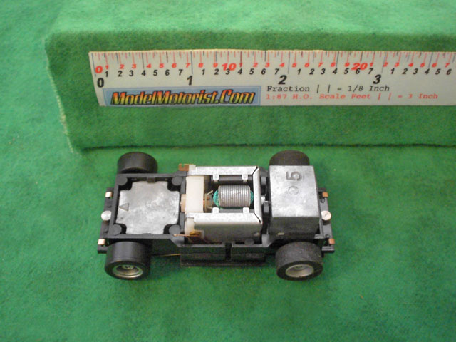 Top view of Tyco US1 Electric Trucking HO Dump Truck Chassis