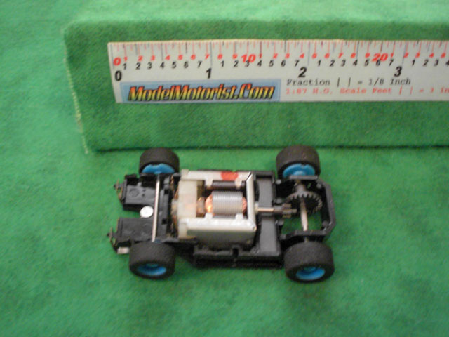 Top view of Tyco HP-7 HO Slot Car Chassis